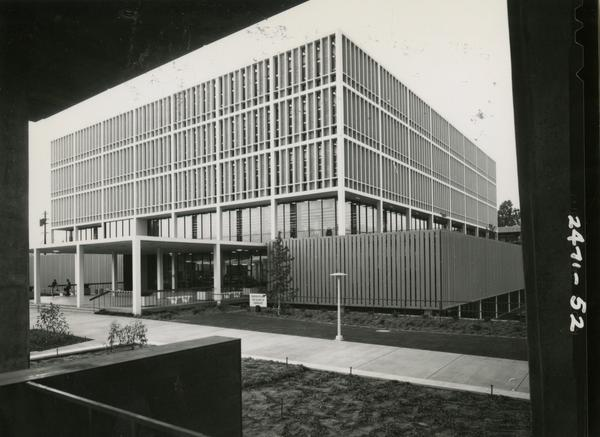 Off angle view of the University Research Library