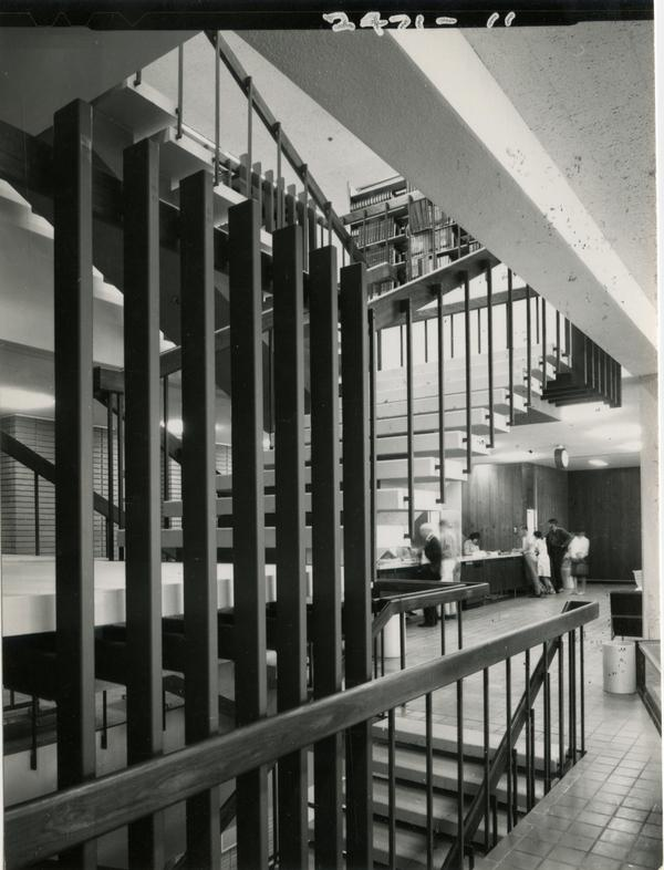 Staircase in the University Research Library