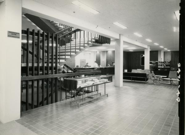 Front entrance room of the the University Research Library, ca. 1964