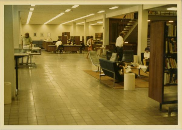 View of first floor of the University Research Library, ca. 1964