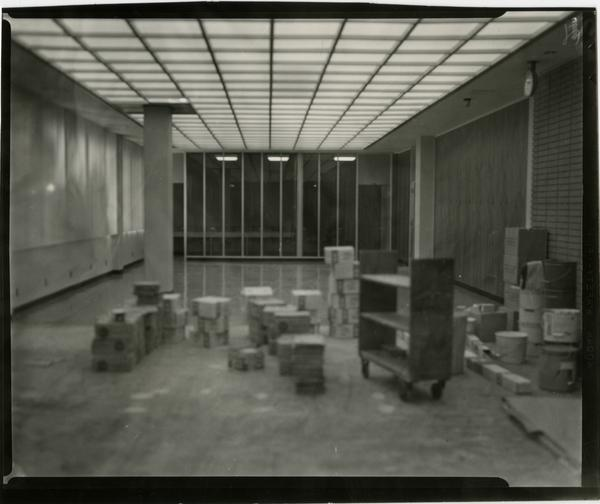 Contact print of unidentified room in University Research Library