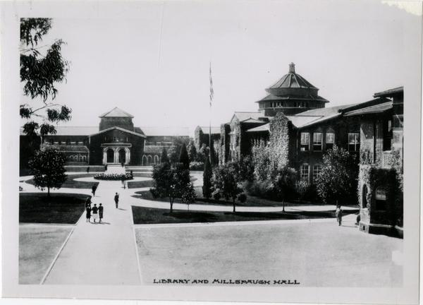 View of Library and Millspaugh Hall on Vermont Ave campus of UC Southern Branch