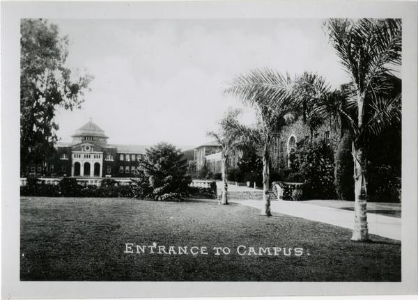 View of Vermont Ave campus entrance