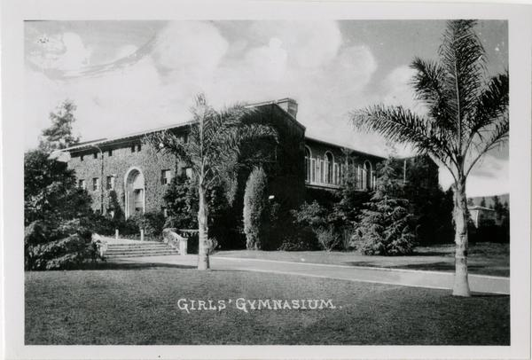 Exterior view of Girl's Gymnasium on Vermont Ave campus of Southern Branch of University of California