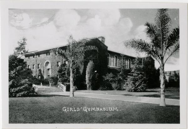 Women's Gym on Vermont Ave campus of Southern Branch of University of California
