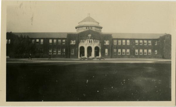 Front view of Millspaugh Hall on Vermont Ave campus, October 1929