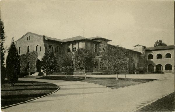 Postcard featuring Training School on Vermont Ave campus