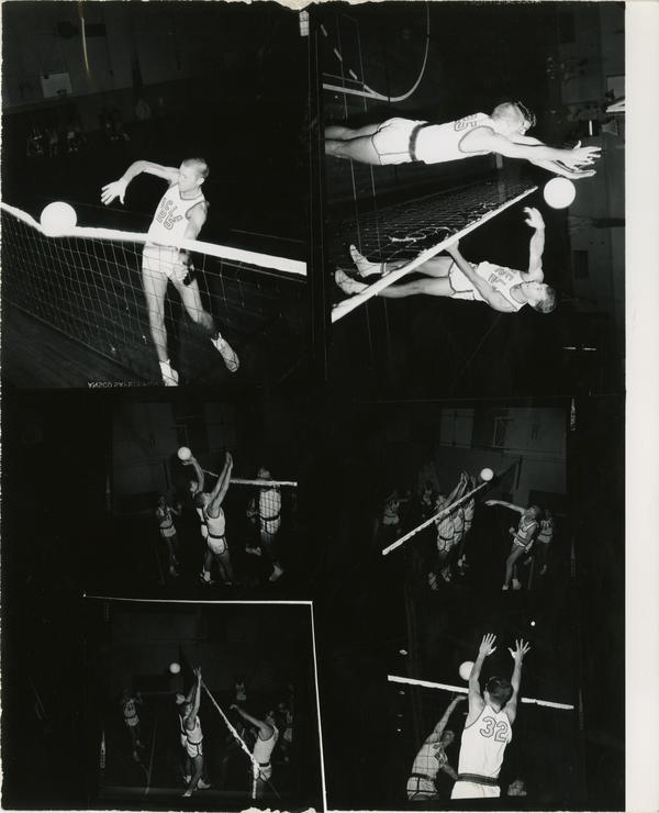 Contact sheet of volleyball game, no date