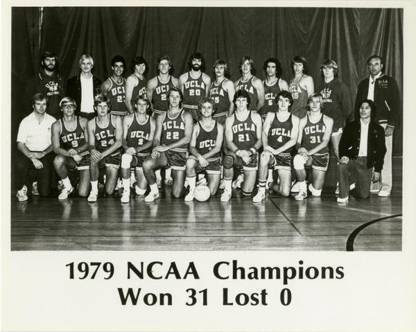 Team portrait of UCLA's 1979 NCAA championship volleyball team