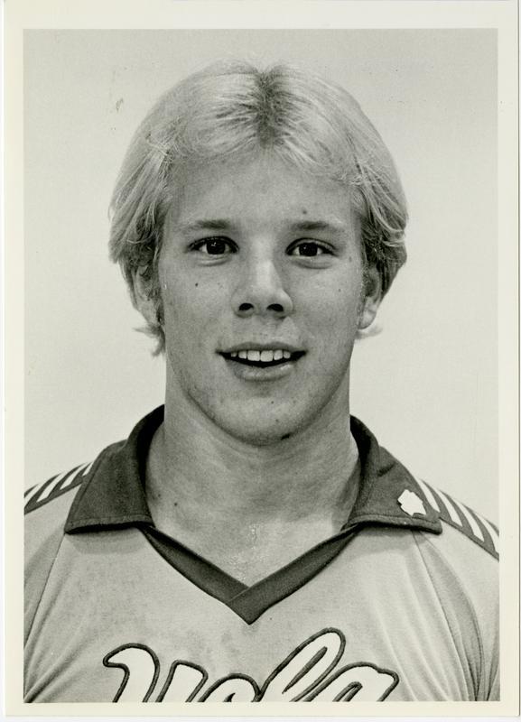 Portrait of UCLA freshman setter, Carl Brittain