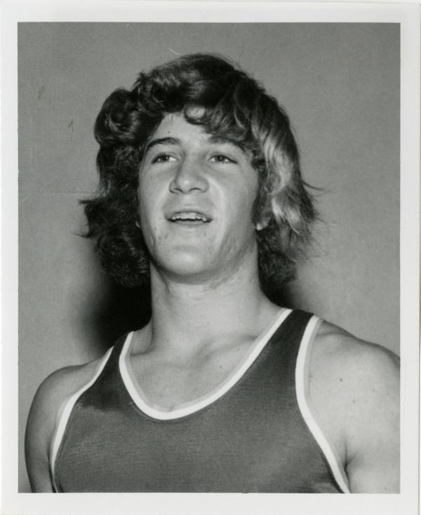 Portrait of UCLA volleyball player, John Gruber, 1978