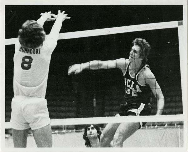 UCLA Volleyball player, Joe Mica, during match