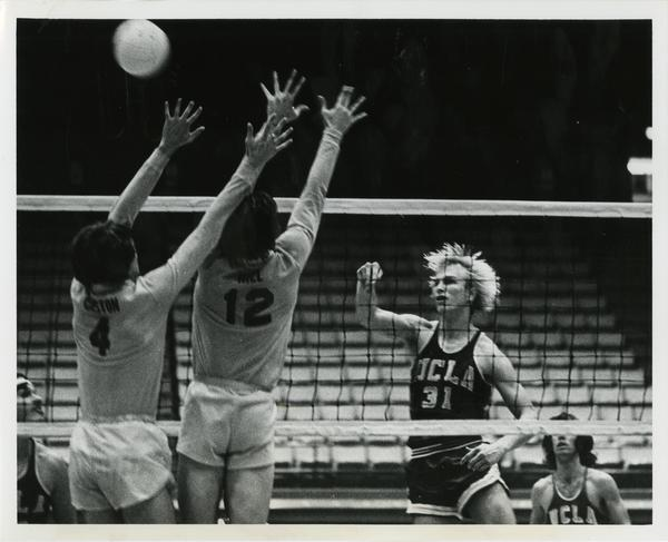 UCLA Volleyball player, Doug Rabe, during a match