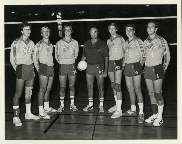 Portrait of UCLA Volleyball team
