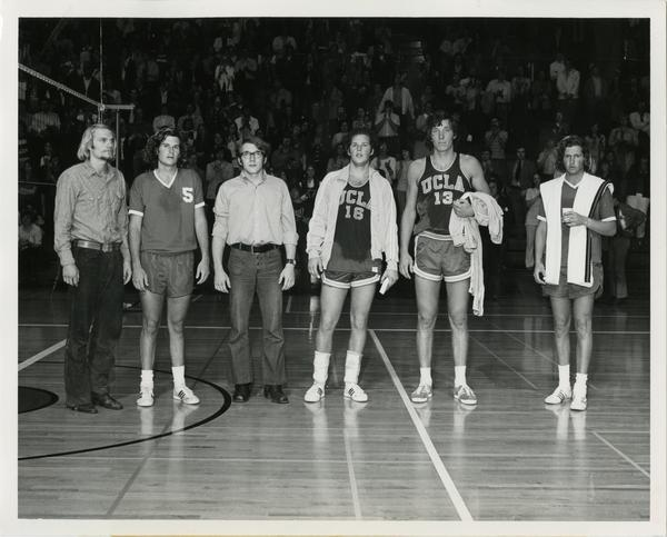 1972 NCAA Volleyball All-Tournament Team: David DeGroot, Randy Stevenson, Rick Niami, Dick Irvin, John Zajec and Wayne Gracey.