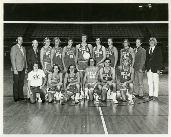 Portrait of 1972 NCAA championship volleyball team