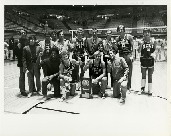 Portrait of 1970 NCAA championship volleyball team