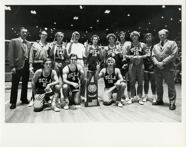 Portrait of 1971 NCAA championship volleyball team