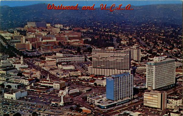 View of Westwood and UCLA in upper left, ca. 1965
