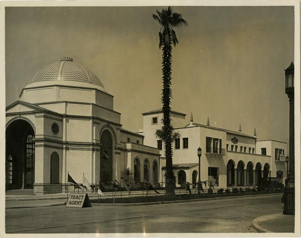View of Westwood Village dome and Janns building, ca. 1930