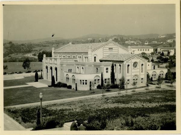 Exterior view of Women's Gymnasium, ca. 1937