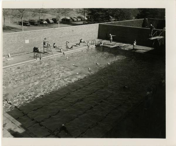 Women's Gymnasium swimming pool, ca. 1948
