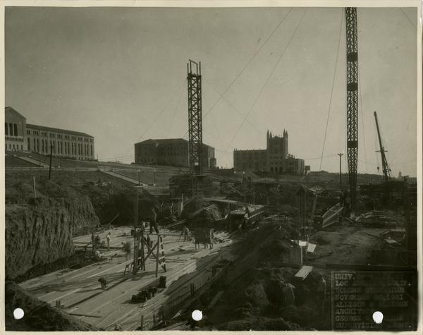 Women's Gymnasium during construction, November 30, 1931