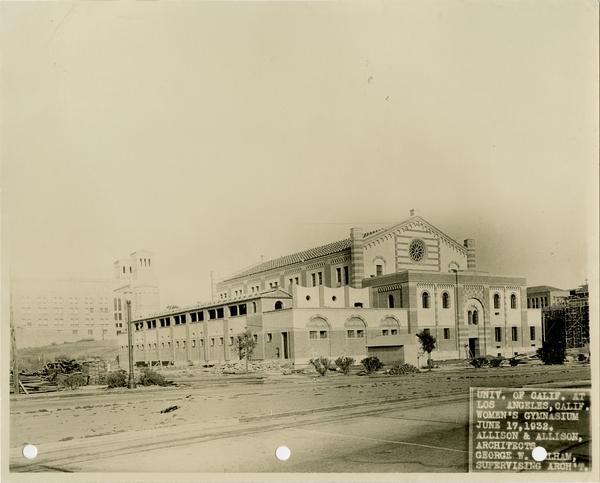 Exterior view of Women's Gymnasium, June 17, 1932
