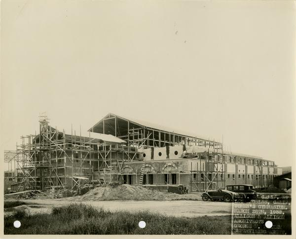 Women's Gymnasium during construction, March 28, 1932