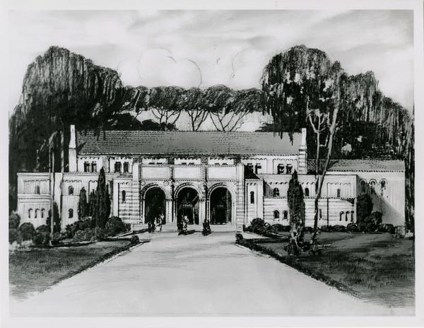 Architectural drawing of Women's Gymnasium, ca. early 1930s