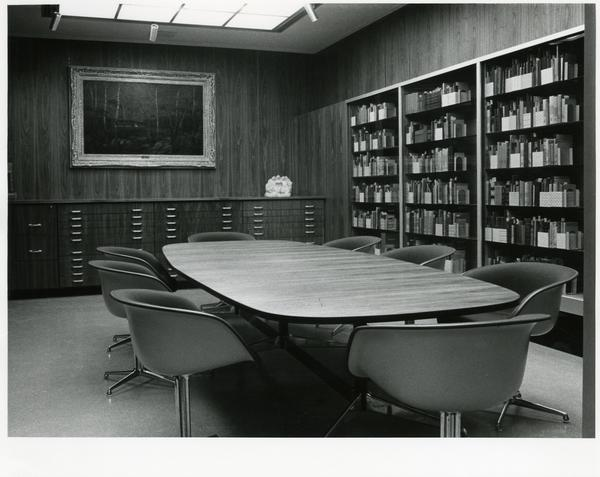 View of conference room in Special Collections