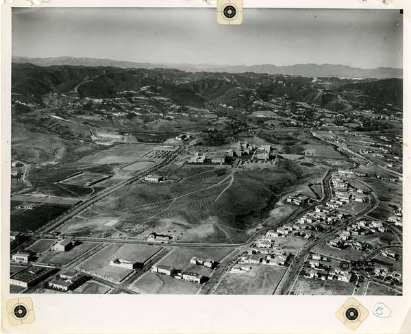 Aerial View of UCLA campus including Hershey Hall, October 1931