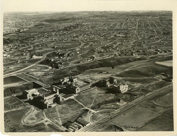 Aerial view of UCLA campus, January 1931