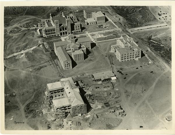 Aerial view of UCLA campus and Westwood, September 1929