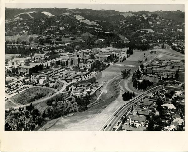 Aerial view of UCLA campus, August 1947
