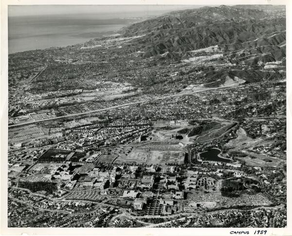 Aerial view of UCLA campus, December 1959