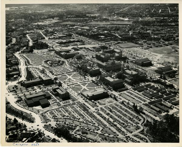 Aerial view of UCLA, December 1951