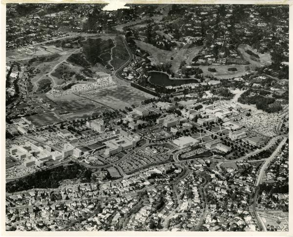 Aerial view of UCLA, 1956