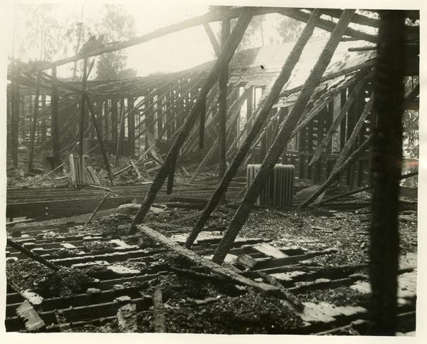 UCLA Chemistry Building Fire Aftermath, 1929 Jan. 3