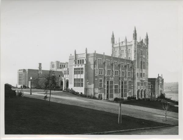 Exterior view of Kerckhoff Hall, ca. 1930s