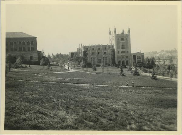 Exterior view of Kerckhoff Hall, 1937