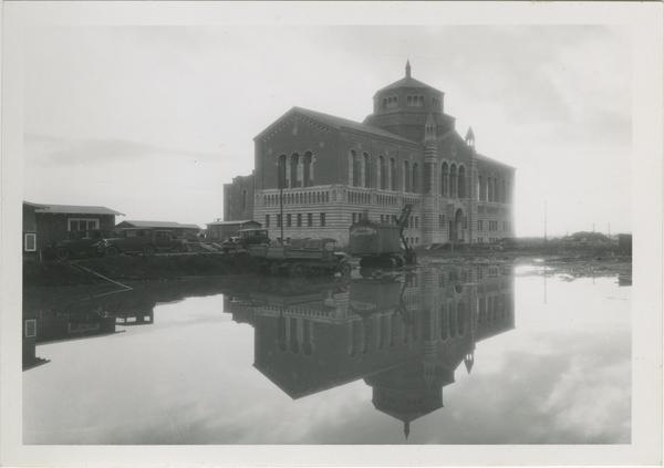 Powell Library Construction, ca. 1929