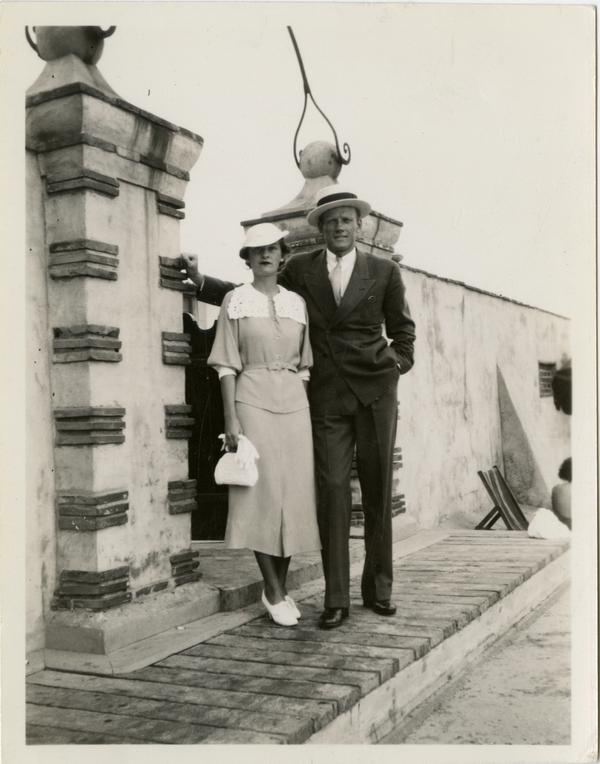 Porter Hendricks pictured with unidentified woman, ca. 1930's
