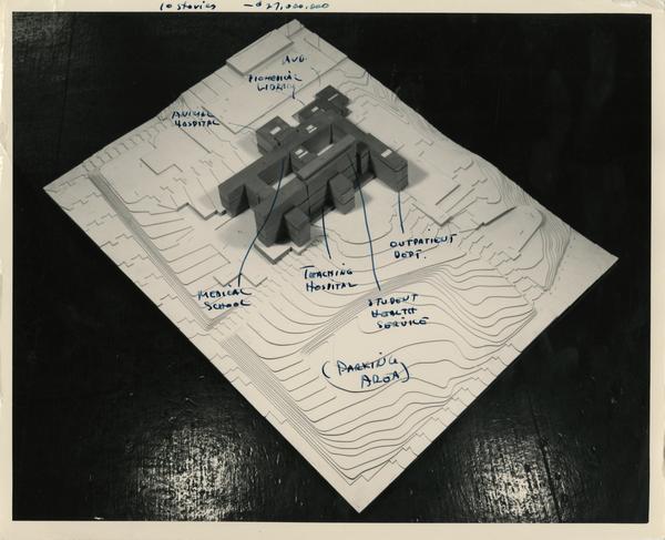 Labelled model of the UCLA medical center