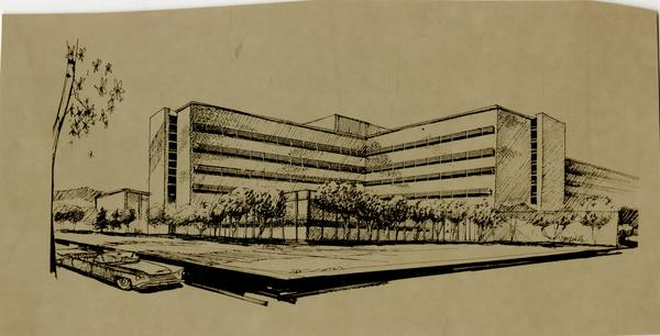 Drawing of the UCLA medical center