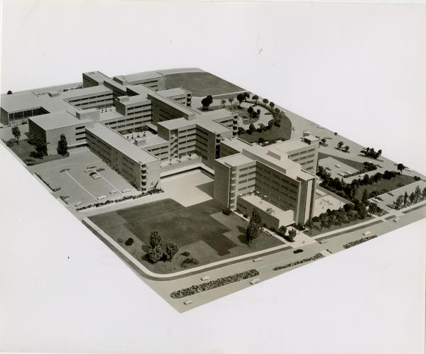 Model of the UCLA medical center