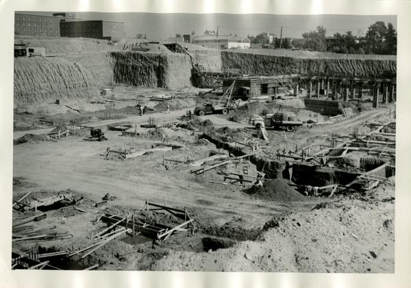 Construction site of the UCLA medical center, c. 1951