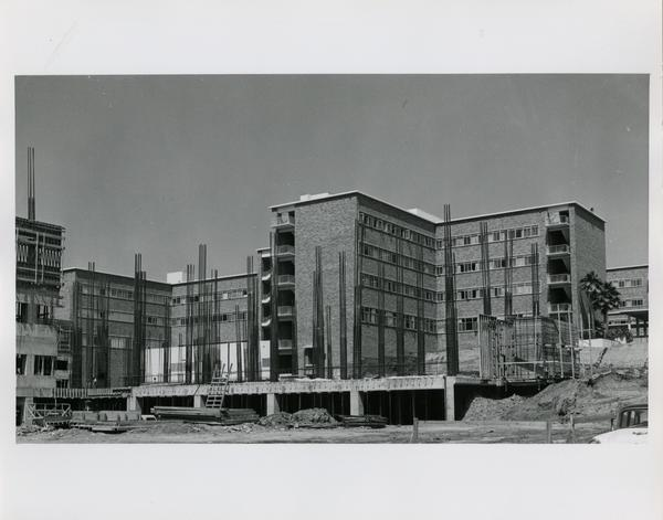 Medical Center during construction, 1959