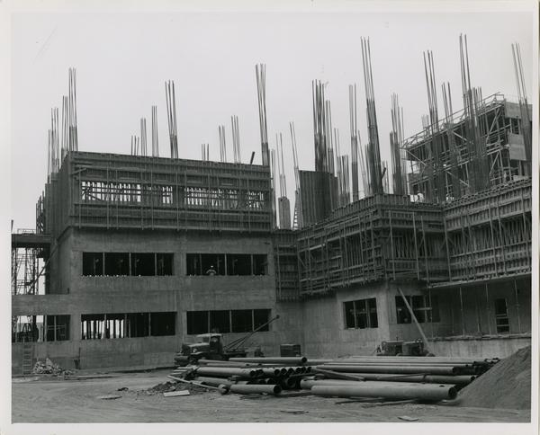 UCLA medical center under construction, 1959