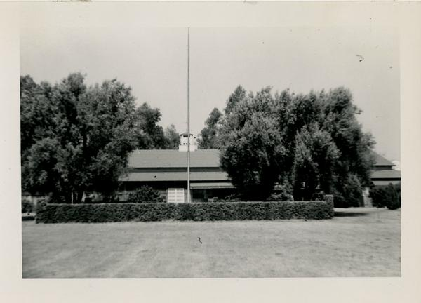 View of reconverted Westwood Women's Club, September 15, 1951